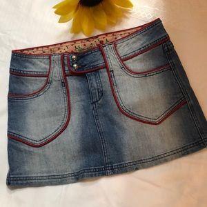 🦋4/30$$$ soundgirl cherry mini skirt